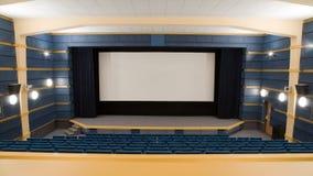 Intérieur de cinéma Image stock