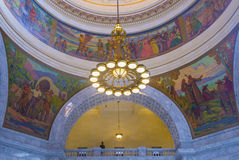Intérieur de construction de capitol d'état de l'Utah image stock