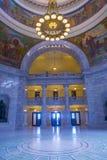 Intérieur de construction de capitol d'état de l'Utah Images libres de droits