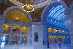 Intérieur de construction de capitol d'état de l'Utah Photographie stock