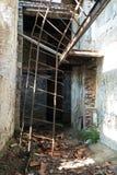 Intérieur de construction ruiné photo stock