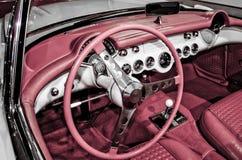 Intérieur 1957 de Corvette photos libres de droits