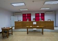Intérieur de cour de droit militaire en Jing-Mei Human Rights Memorial Photographie stock libre de droits
