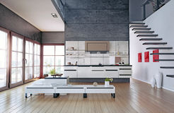 Intérieur de cuisine Photographie stock libre de droits