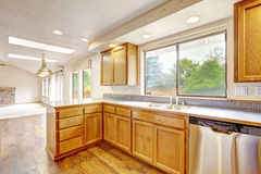 Intérieur de cuisine dans la maison vide Image stock