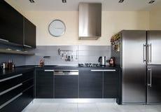 Intérieur de cuisine moderne Image libre de droits