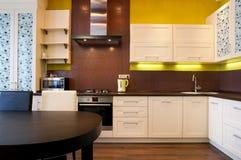 Intérieur de cuisine moderne Photo libre de droits