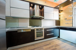 Intérieur de cuisine moderne Images stock