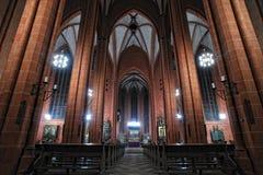 Intérieur de dôme de cathédrale de rue Bartholomew de Francfort Photos libres de droits