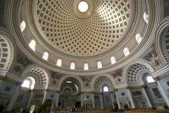 Intérieur de dôme de Mosta, Malte images libres de droits
