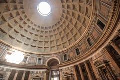 Intérieur de dôme de Panthéon Image libre de droits