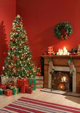Intérieur de fête de Noël Image libre de droits