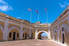 Intérieur de fort d'EL Morro Photographie stock libre de droits