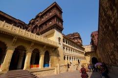 Intérieur de fort de Mehrangarh Images stock