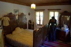 Intérieur de fourniture de vintage de chambre à coucher Images libres de droits