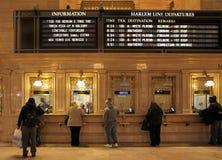 Intérieur de gare ferroviaire de Grand Central, New York, Etats-Unis Images stock