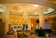 Intérieur de Gran Hyatt Dubaï Image libre de droits