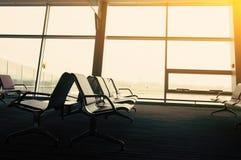 Intérieur de hall d'aéroport Image stock