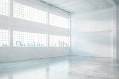 Intérieur de hangar de brique illustration libre de droits