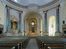Intérieur de Hedvig Eleonora Church à Stockholm photographie stock libre de droits