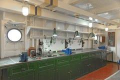 Intérieur de HMS Belfast photo stock
