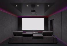 Intérieur de home cinéma illustration 3D Image stock