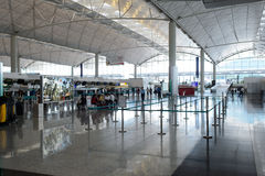 Intérieur de Hong Kong International Airport Image stock