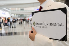 Intérieur de Hong Kong International Airport Photographie stock libre de droits
