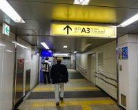 Intérieur de JR station à Tokyo, Japon Photos libres de droits