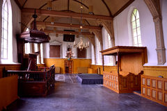 Intérieur de l'église dans Lambertschaag photographie stock libre de droits