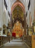 Intérieur de l'église de la rue Jacob à Torun Image libre de droits
