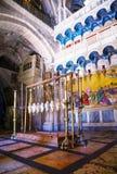 Intérieur de l'église de la sépulture sainte Photographie stock libre de droits