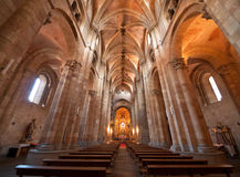 Intérieur de l'église de Peter de saint à Avila Photos stock