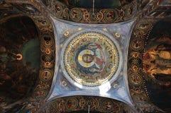 Intérieur de l'église du sauveur sur le sang renversé, St Petersburg Photos libres de droits