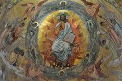 Intérieur de l'église du sauveur sur le sang renversé, St Petersburg Images stock