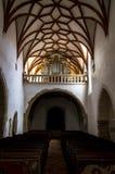 Intérieur de l'église enrichie Prejmer dans la ville de Prejmer, près de Brasov image libre de droits