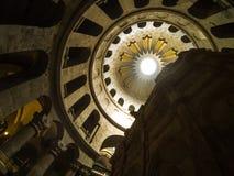 Intérieur de l'église de la tombe sainte dans la vieille ville de Jérusalem, Israël photographie stock