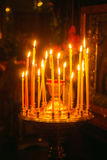 Intérieur de l'église orthodoxe russe. Photographie stock libre de droits