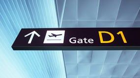 Intérieur de l'aéroport. Photo libre de droits