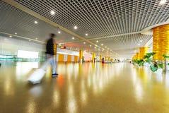 Intérieur de l'aéroport de pudong de Changhaï Images libres de droits