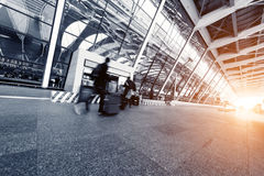 Intérieur de l'aéroport de pudong de Changhaï Photos stock