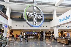 Intérieur de l'aéroport de Francfort, Allemagne Photos stock