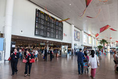 Intérieur de l'aéroport international de Bruxelles Images libres de droits