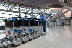 Intérieur de l'aéroport international de Kansai à Osaka Photos stock