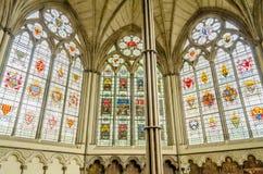 Intérieur de l'Abbaye de Westminster, Londres Photographie stock