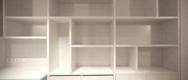 Intérieur de l'appartement moderne, détail de cabinet ouvert Photos stock