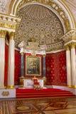 Intérieur de l'ermitage d'état, d'un Musée d'Art et de culture dans le St Petersbourg, Russie Image libre de droits
