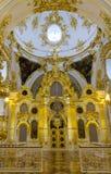 Intérieur de l'ermitage d'état, d'un Musée d'Art et de culture dans le St Petersbourg, Russie Images stock