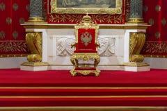 Intérieur de l'ermitage d'état, d'un Musée d'Art et de culture dans le St Petersbourg, Russie Image stock