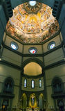 Intérieur de la basilique de Santa Maria del Fiore à Florence Images libres de droits